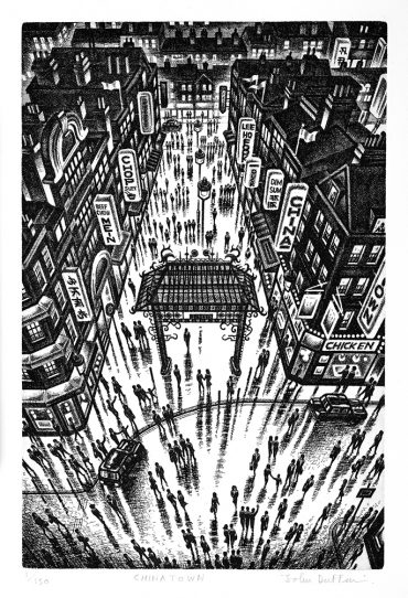 John Duffin Chinatown 2012 Etching 38 x 25 cm £195.00