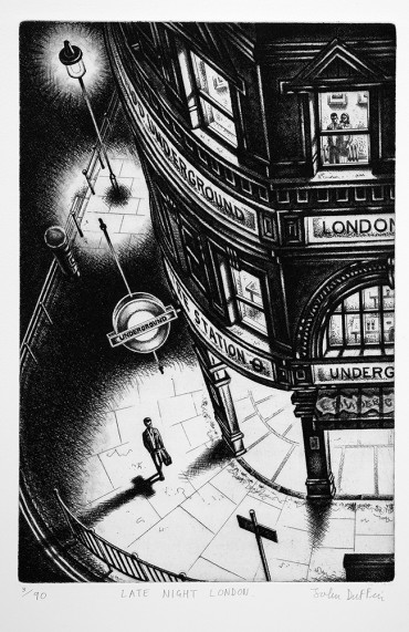 John Duffin Late Night London 2011 Etching 6190 38 x 25 cm £195.00