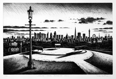 John Duffin London from Primrose Hill 2010 Etching 23150 40.5 x 61 cm £495.00