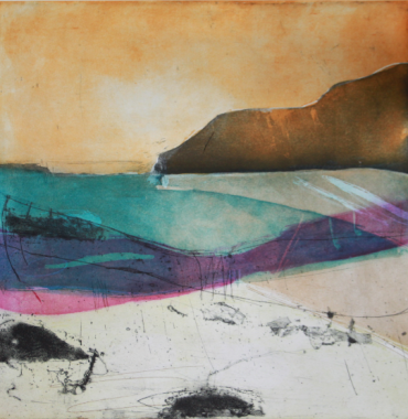 Louise Davies, Distant Shores, Etching and Collagraph 50 x 50 cms, £340