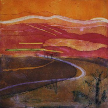 Louise Davies, Last Rays, 33 x 33cms, Unframed £250 web