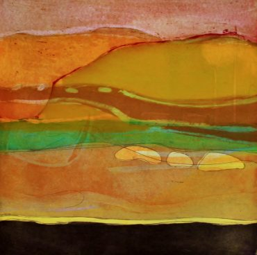 Louise Davies, The Sands at Daybreak, 33 x 33 cms, Unframed £250