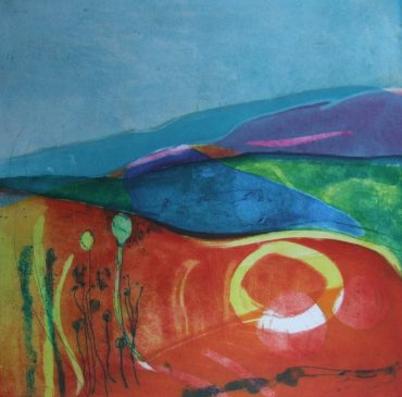 Summer Solstice, Etching and Collagraph,  50 x 50cms, £340 unframed