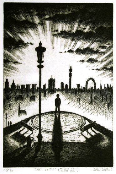 John Duffin My City (Primrose Hill, London NW3) 2003 Etching 56 x 38 cm £195.00