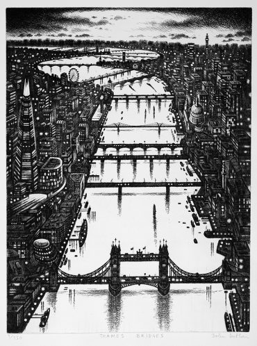 John Duffin Thames Bridges 2014 Etching 20150 61 x 46 cm £495.00